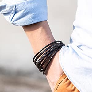 murtoo brown leather bracelet