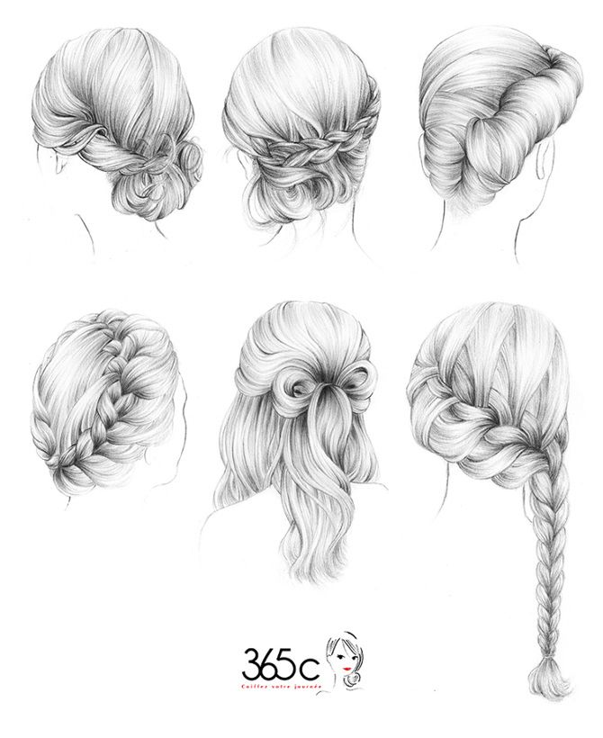 365c - Maëlle Rajoelisolo | Hair sketch, Sketches
