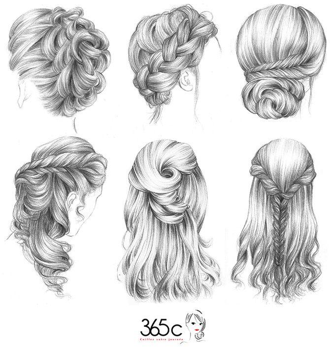 Coiffure Dessin Dans Les Cheveux