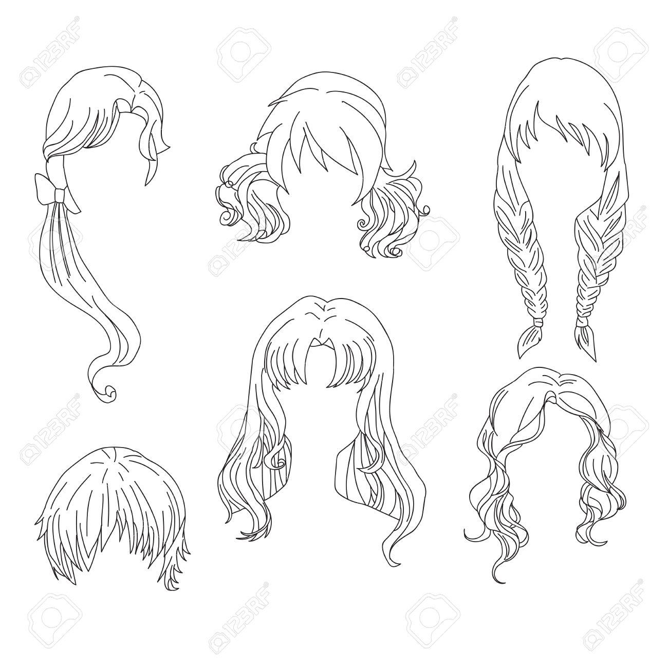 coiffure femme dessin