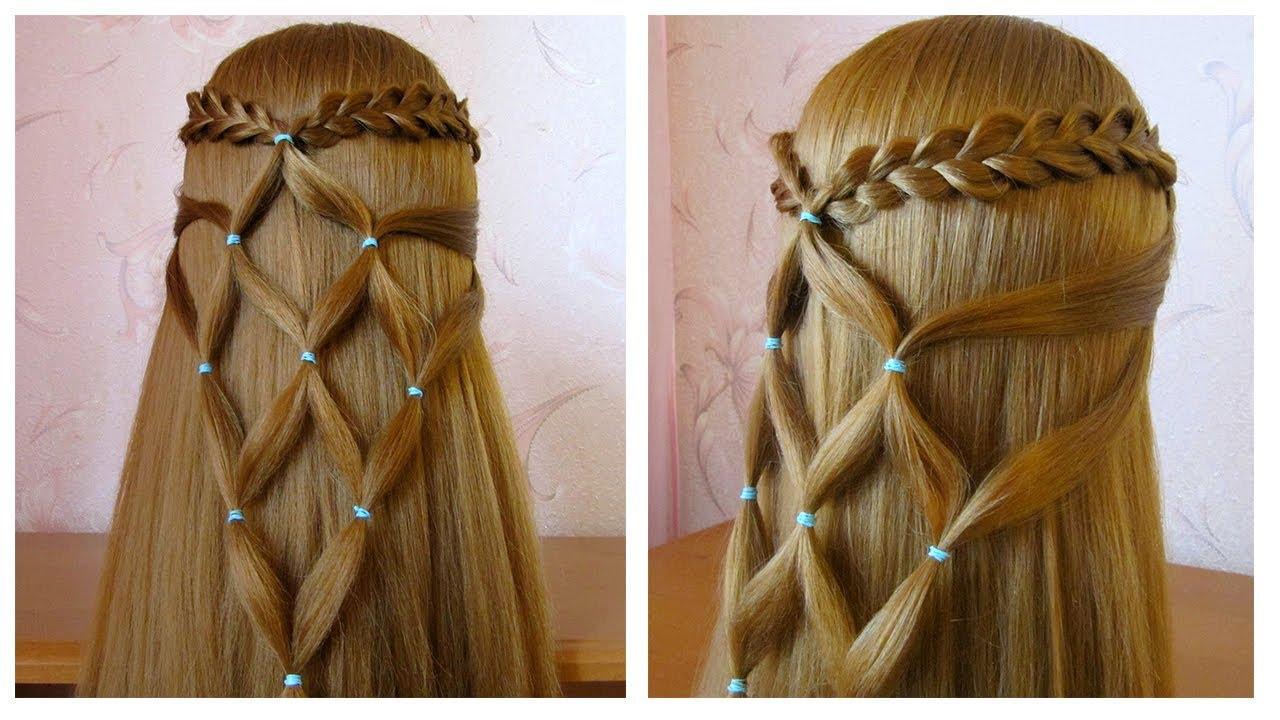 Coiffure simple et rapide pour cheveux long / mi long