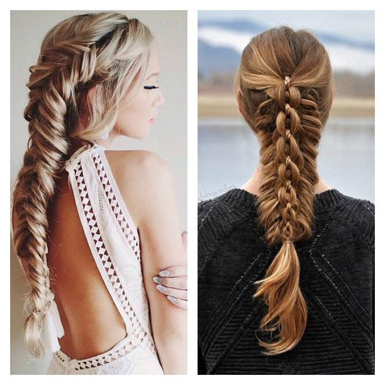 coiffure tresse facile cheveux mi long | Coiffure simple