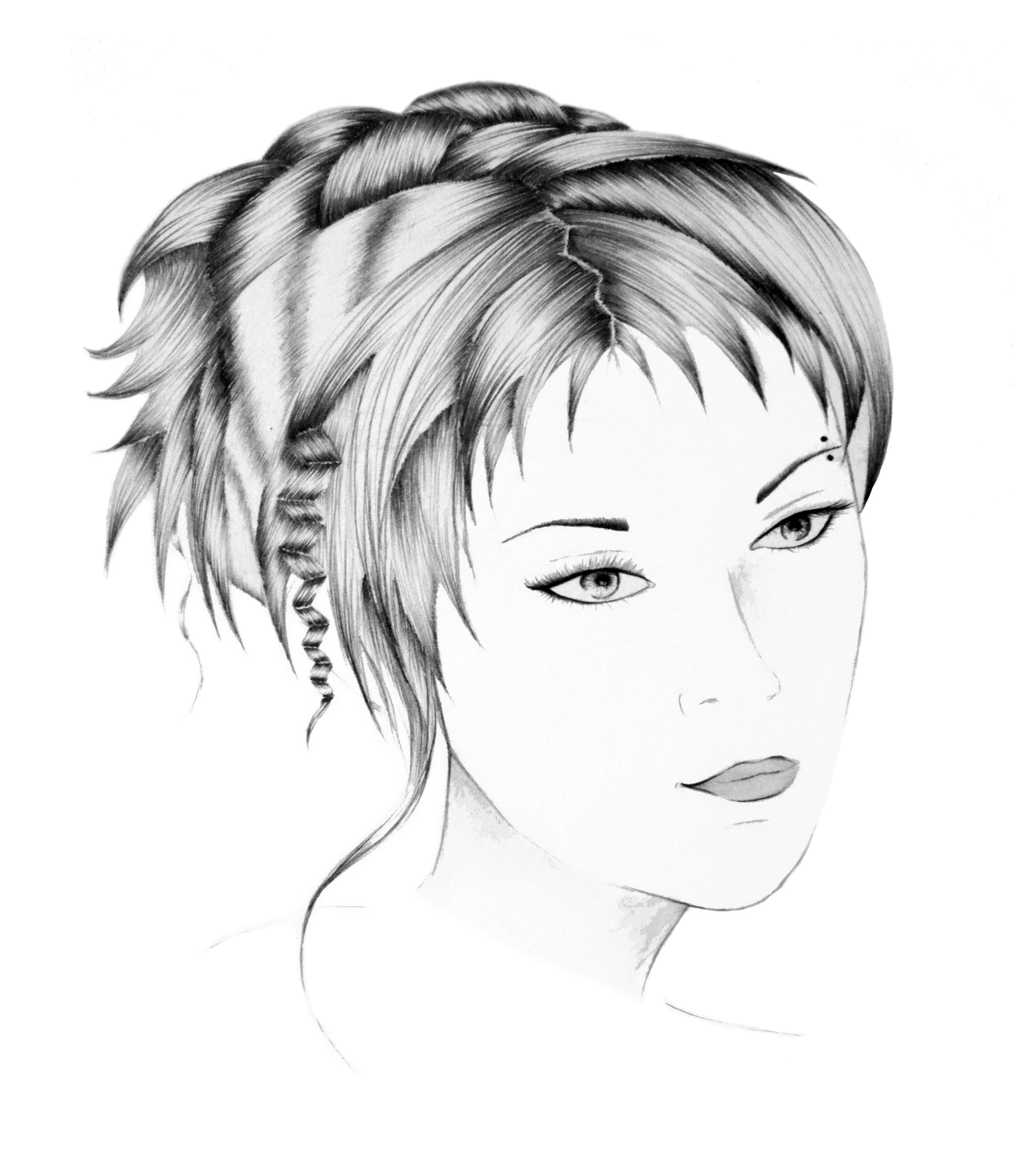 Coupe coiffure courte pour femme salon de coiffure