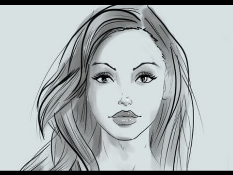 how to draw female hair realism and comics - YouTube