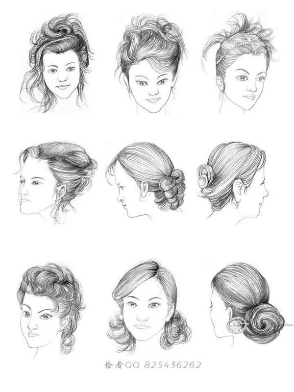 How to Draw Hair Women's Hair - , Art Student Resources