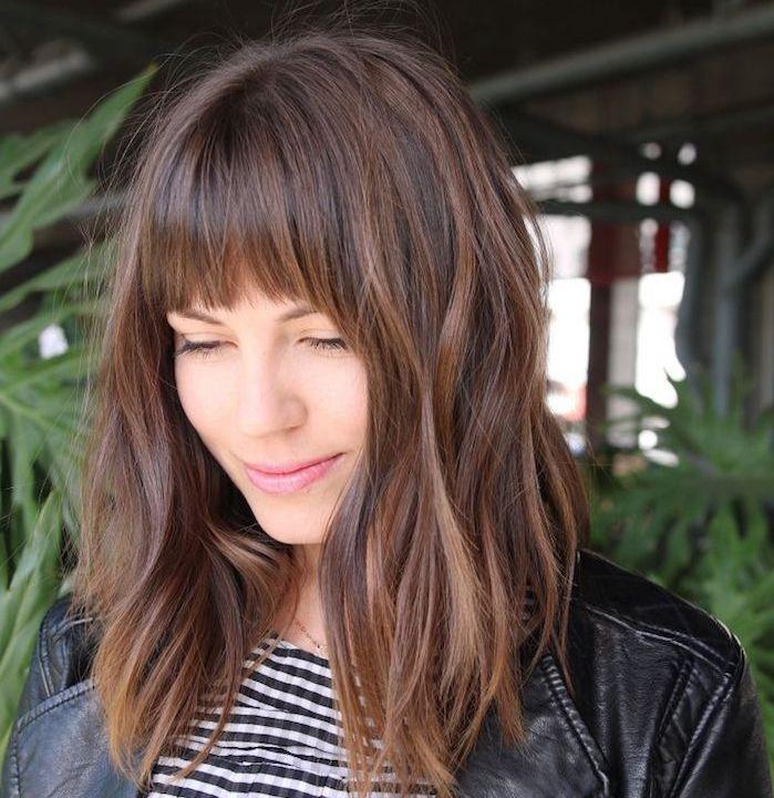 +20 belles images de coupe cheveux femme long dégradé avec frange - LiloBijoux - Bijoux Fantasie ...