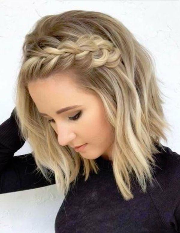 idée de coiffure tendance carré ondulé tressé carré wavy