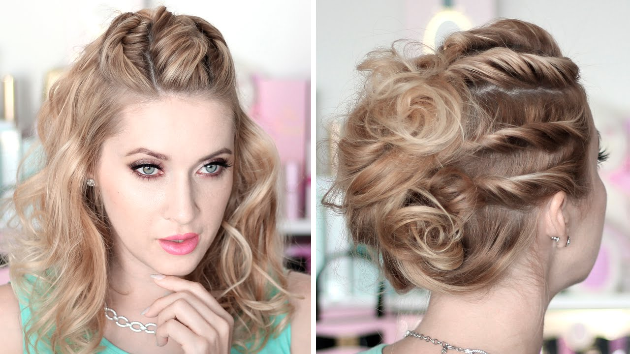 Prom/party hairstyles ★ Running late updo ★ Medium/long