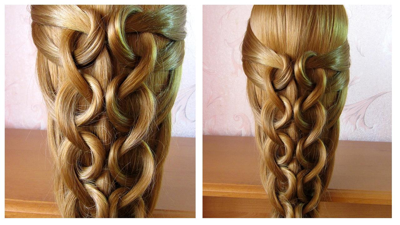 Tuto coiffure facile et rapide cheveux long /mi long